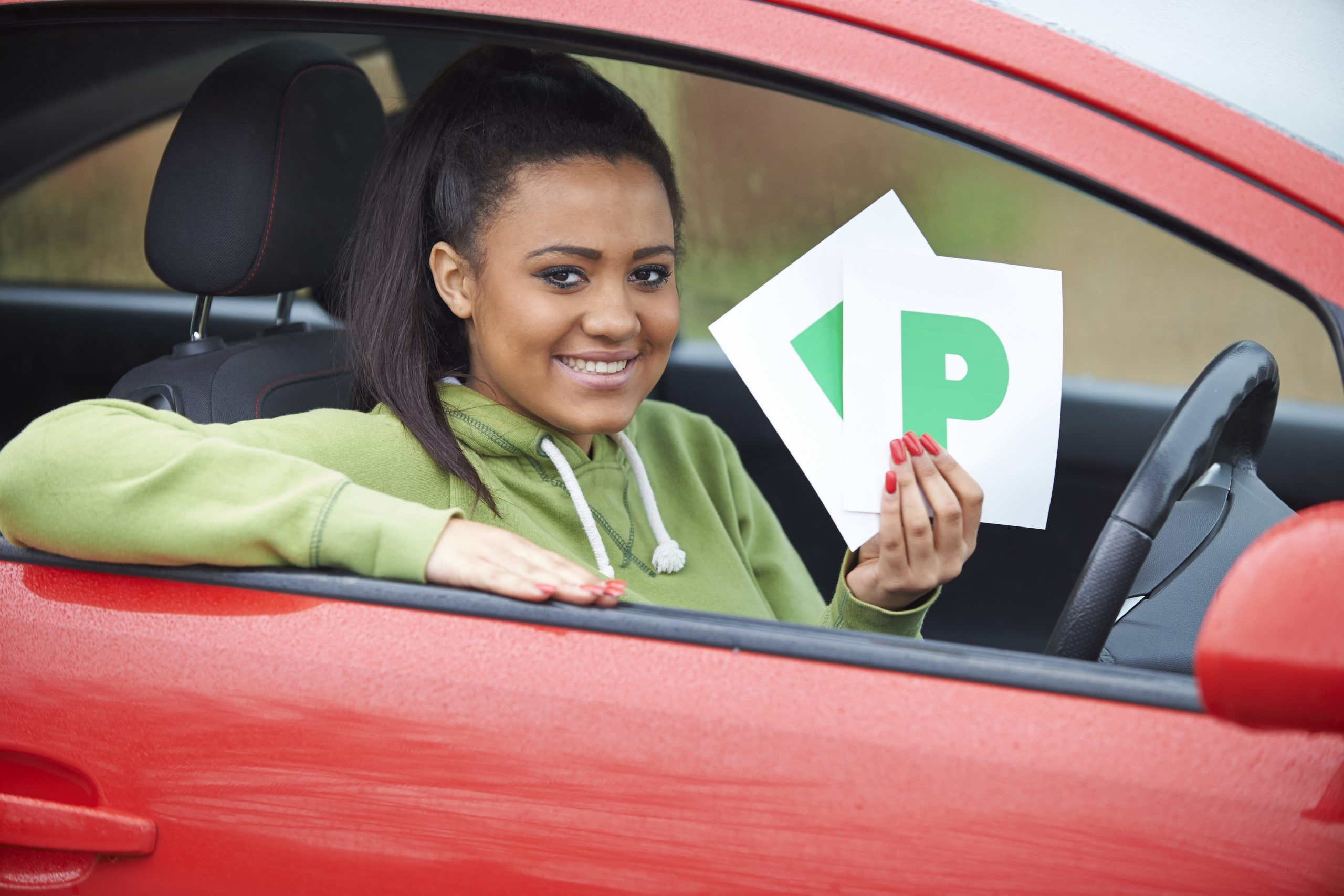 female driver passed her test